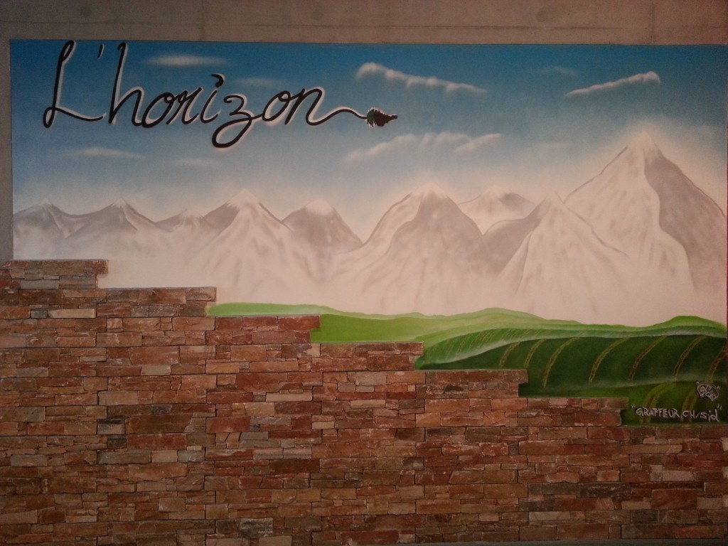 L'horizon deco graffiti restaurant a satigny
