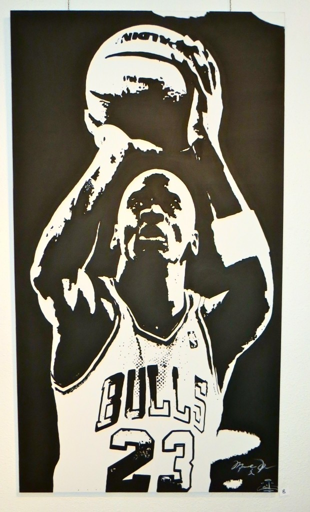 Michael Jordan player basketball tableau canvas nba chicago bulls a vevey Suisse