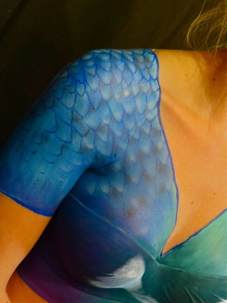 Détail body painting