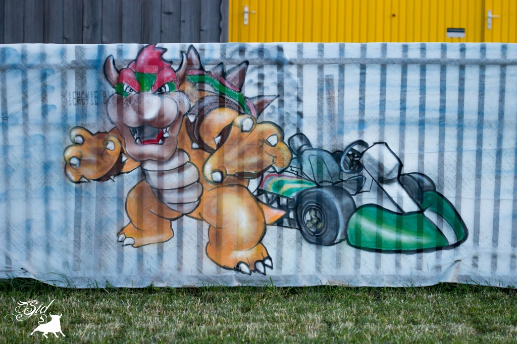 Déco bowser kart graff spray super mario bros evolution art pour le 70 ème giron 2015 de marchissy fjdn