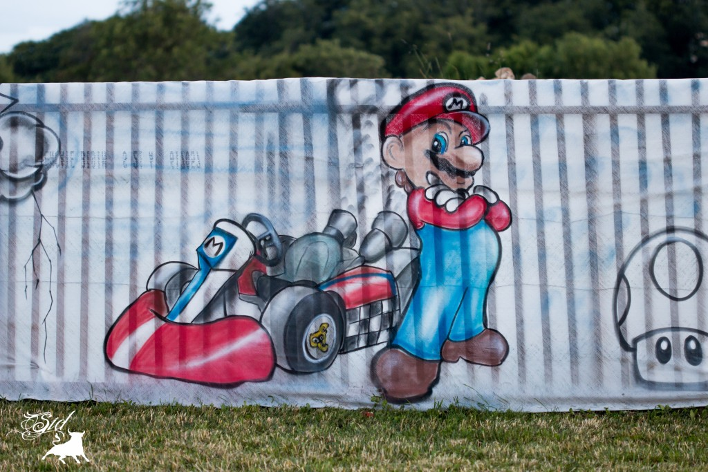 Déco Mario kart graff spray super mario bros evolution art pour le 70 ème giron 2015 de marchissy fjdn