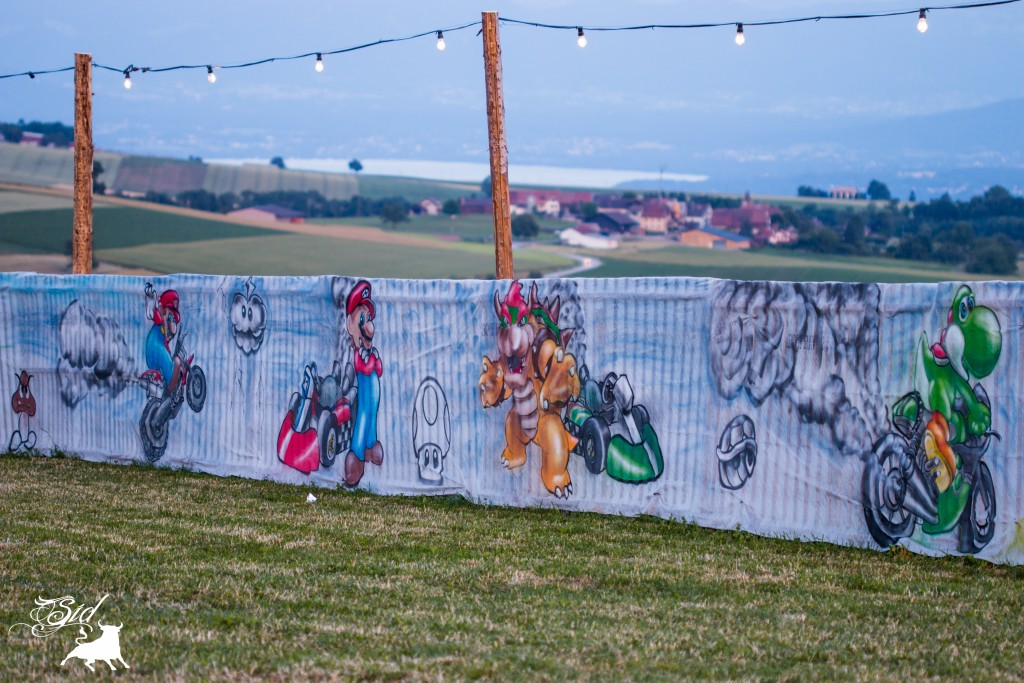 Déco graff spray super mario bros evolution art pour le 70 ème giron 2015 de marchissy fjdn Mario kart