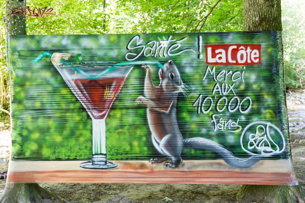 Cellograff nature ecureuil cocktail Suisse Graffiti Sidone